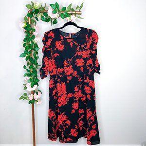 3/$30 Who What Wear Foliage Print Mini Dress